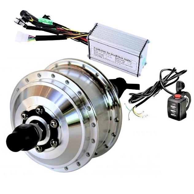 Мотор-колесо редукторное 48В 350Вт, переднее, набор без обода (Green-DDK) купить недорого в Москве | VoltBikes