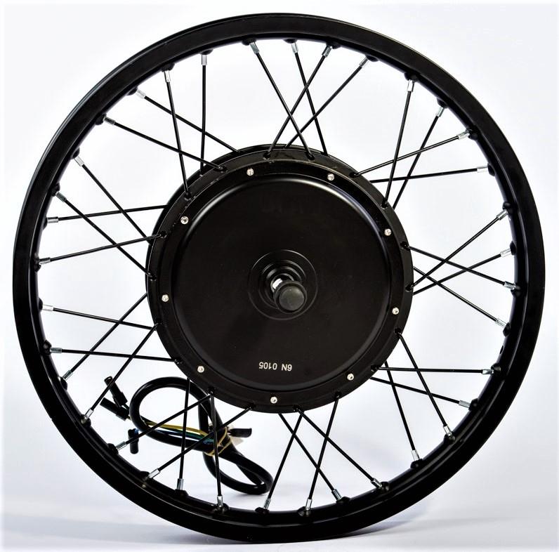 Мотор-колесо заднее 3000Вт, прямой привод, под трещотку (мод. MXUS V3) фото