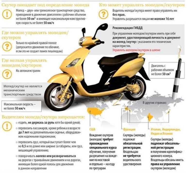 Права на скутер нужны или нет в 2020 году