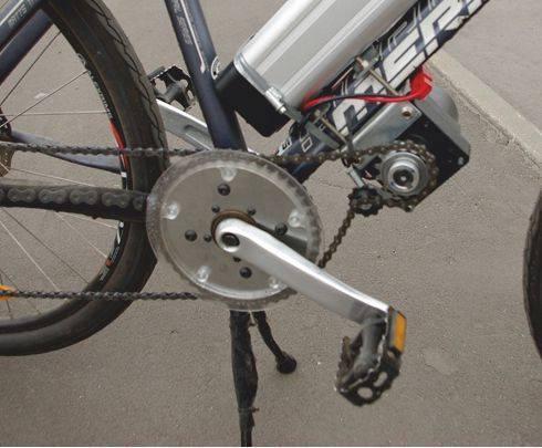 Велосипед с подвесным двигателем своими руками